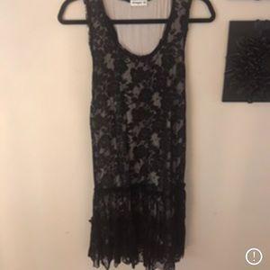 Lace racer back tunic dress